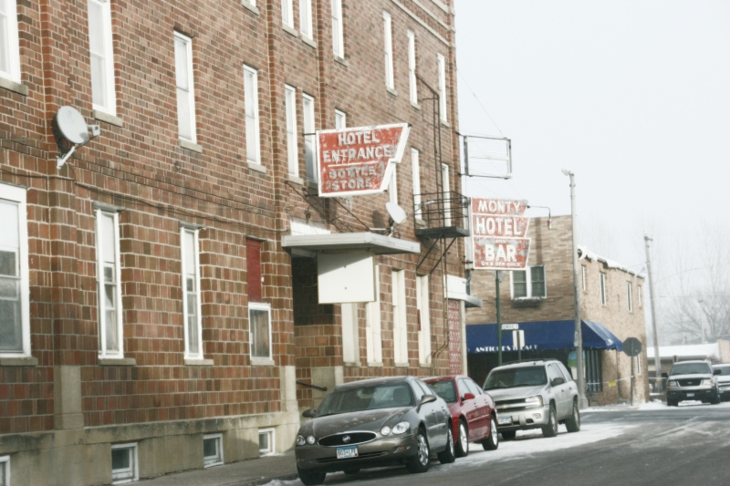 Vintage signage on historic buildings is part of Montgomery's charm.