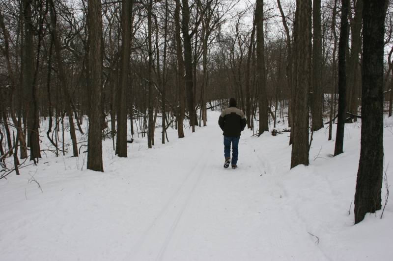 Nature Center, 2 Randy walking