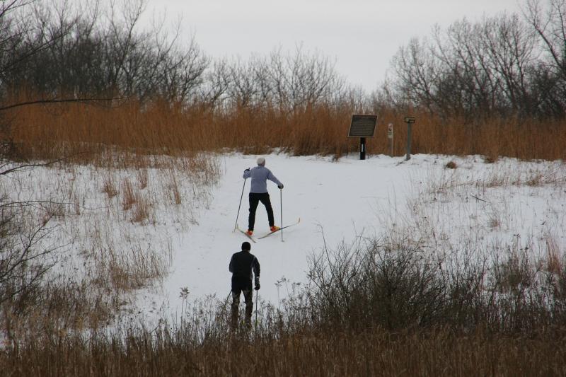 Nature Center, 25 skiing uphill