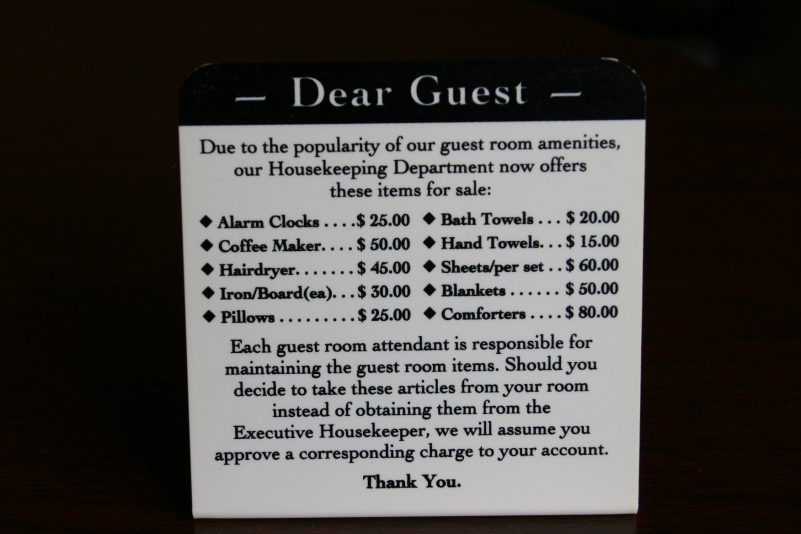 Sign in Winona hotel, 392