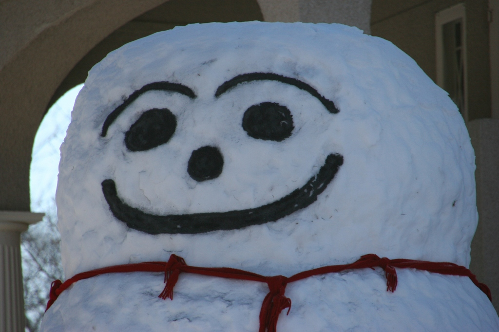 Snowman, 11 head close-up