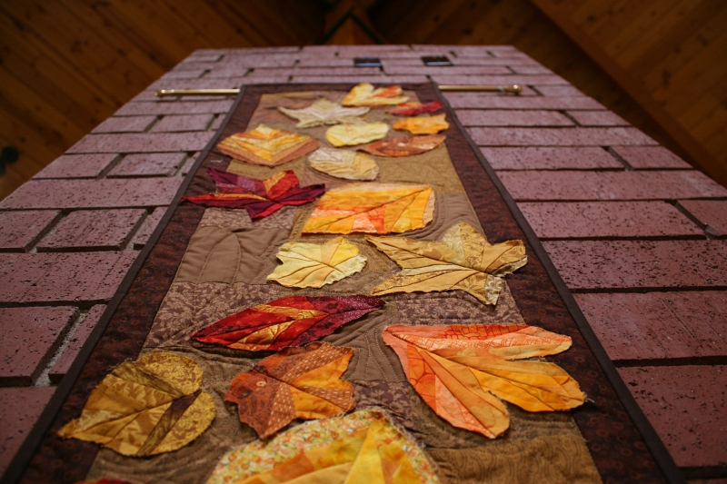 Autumn leaves in fabric...more of God's Creation.