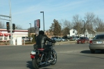 Faribault weather, 8 motorcyclist