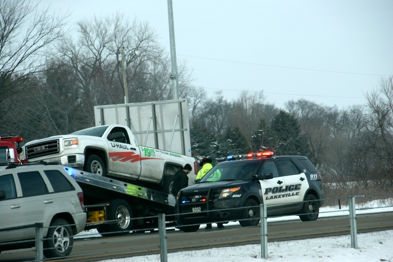 The driver of this U-Haul pick-up led police on a high speed chase Saturday morning in the southern Twin Cities metro.