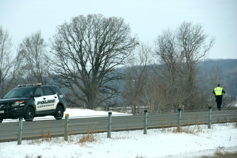 Lakeville police joined numerous Minnesota State Highway Patrol officers on the scene.