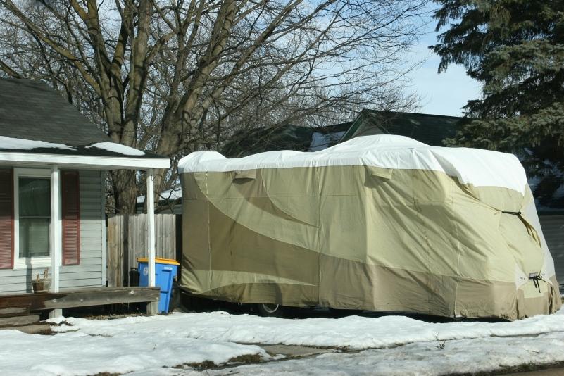 Motorhome in Owatonna in January