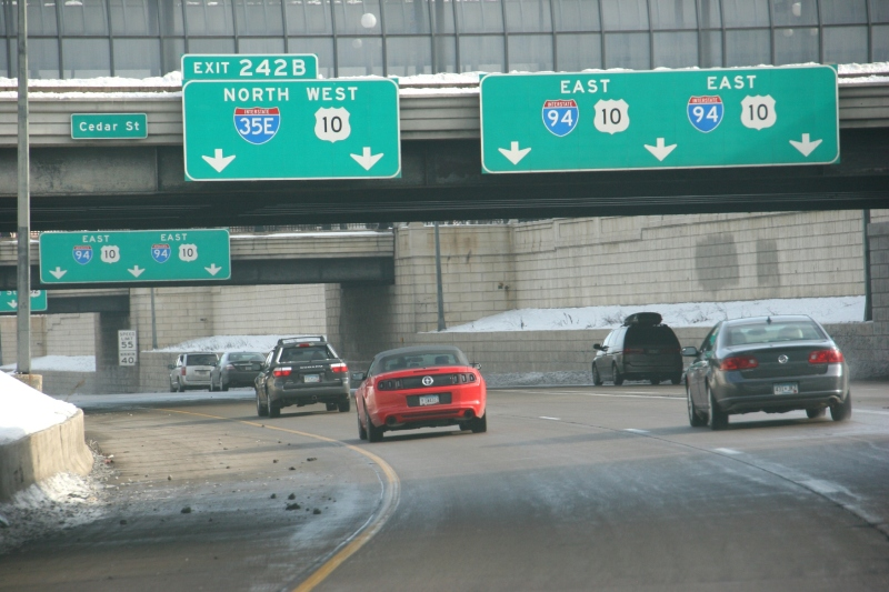 Driving through St. Paul on a recent Saturday morning.