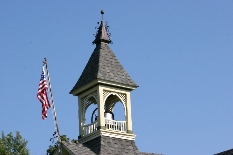 Even the schoolhouse bell tower was restored.
