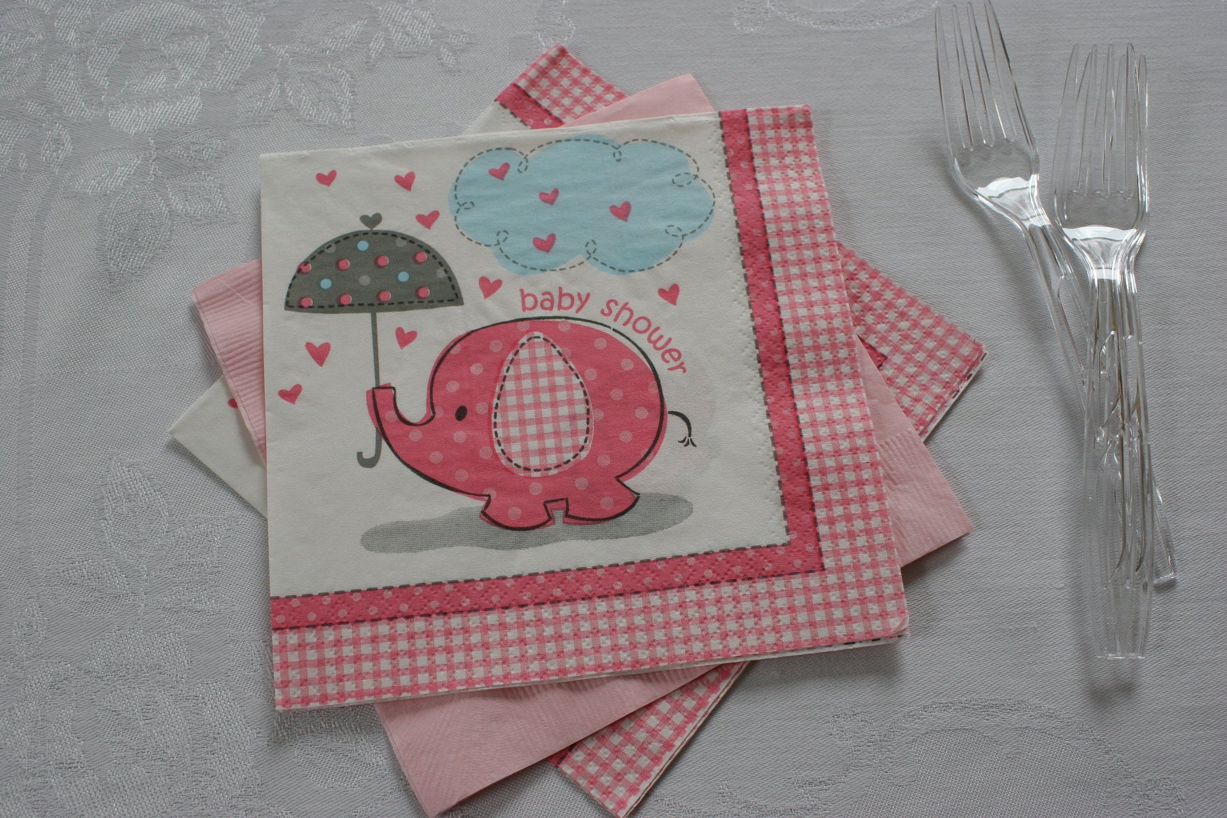Baby Shower Elephant Napkins Wild Safari Ba Shower Paper Plates And : elephant paper plates and napkins - pezcame.com