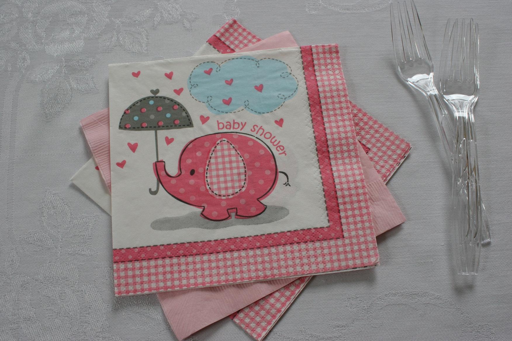 Baby Shower Elephant Napkins Wild Safari Ba Shower Paper Plates And & Elephant Napkins For Baby Shower Amazoncom Blue Elephant Boy Baby ...