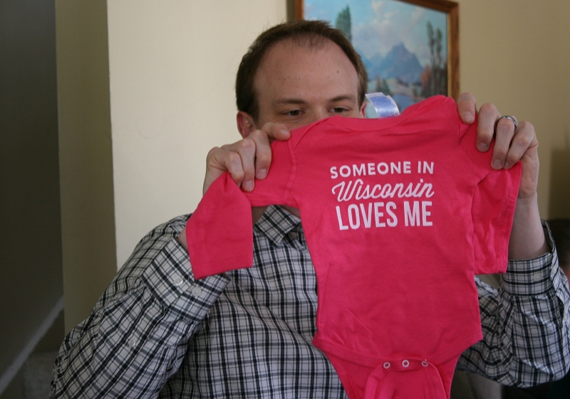 My daughter Miranda, who lives in Wisconsin, bought this shirt for her niece.