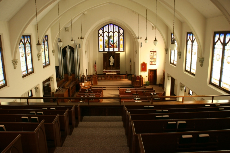 The sanctuary as photographed from the balcony.