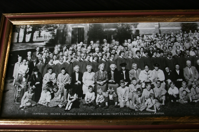 In the church basement, I found and photographed a portion of the church centennial photo.