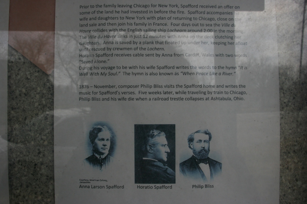 The story of the Spaffords and the hymn, along with images, is posted.