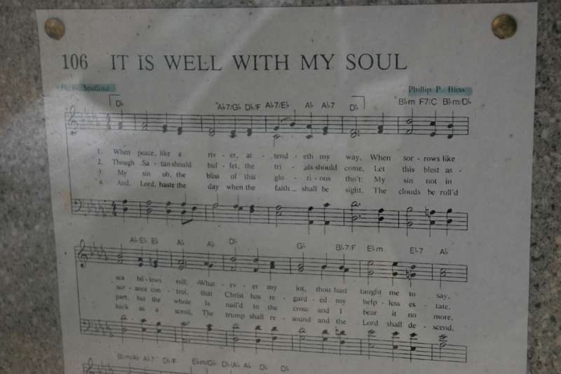 The song: It Is Well With My Soul.