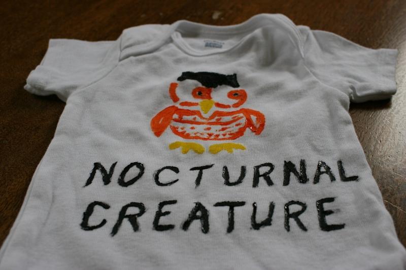 Nocturnal creature onesie, 3