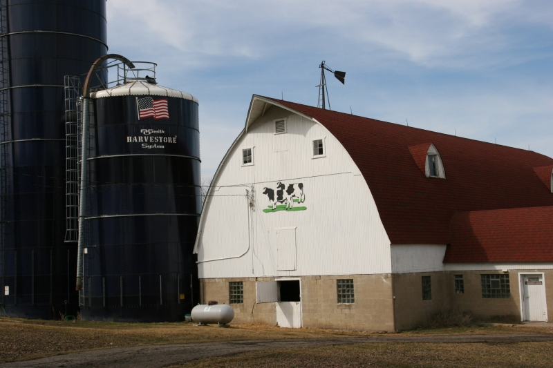 Rural Minnesota, 110 barn & Harverstore silos