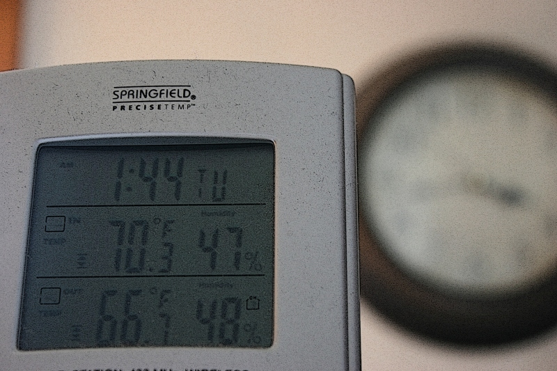 At 3:45 p.m. Tuesday, the outdoor temperature in my Faribault backyard registered at 66 degrees.