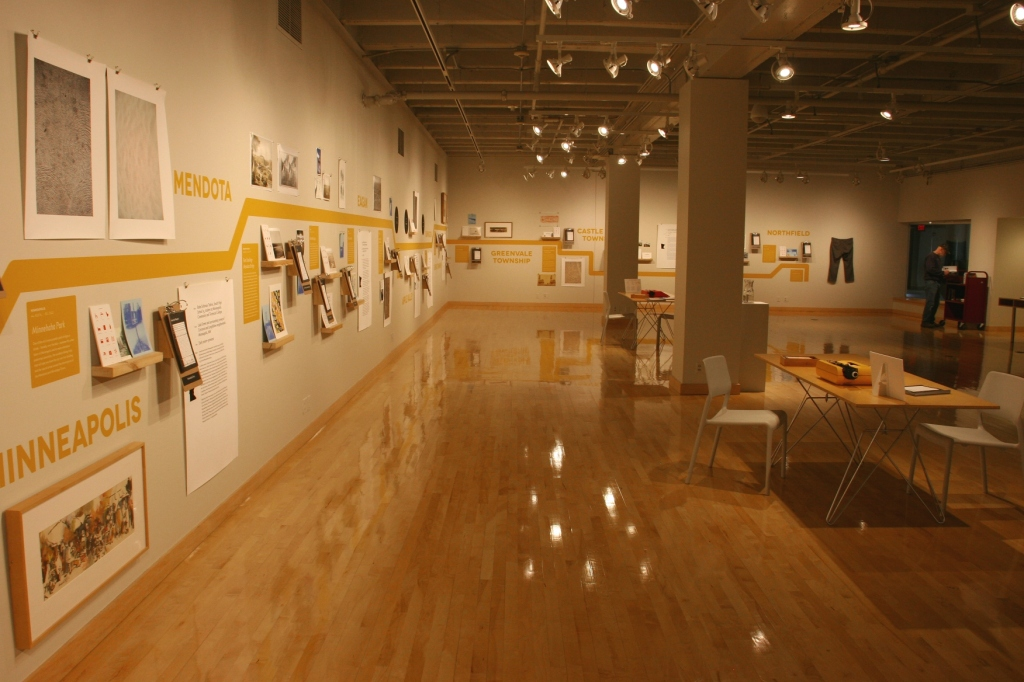 An overview of The Via Northfield exhibit at St. Olaf College, Northfield, Minnesota.