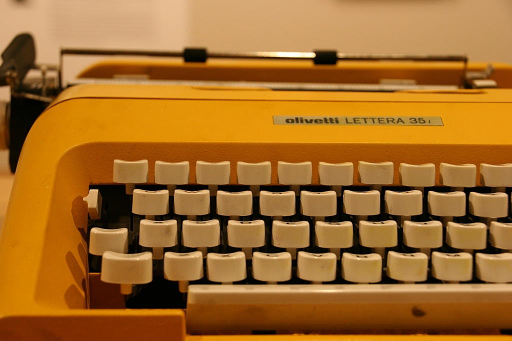...and then using a typewriter...