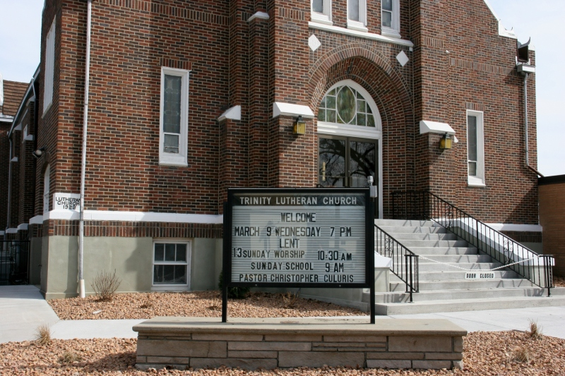 The cornerstone of this ELCA church is dated 1922, to the left in this photo.