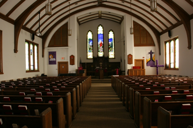 Another view from the church aisle.