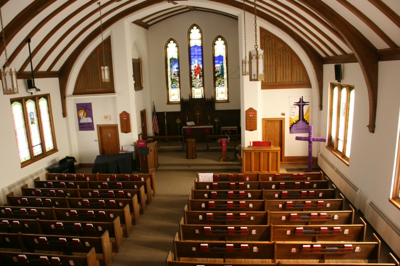 The beautiful sanctuary as photographed from the balcony.