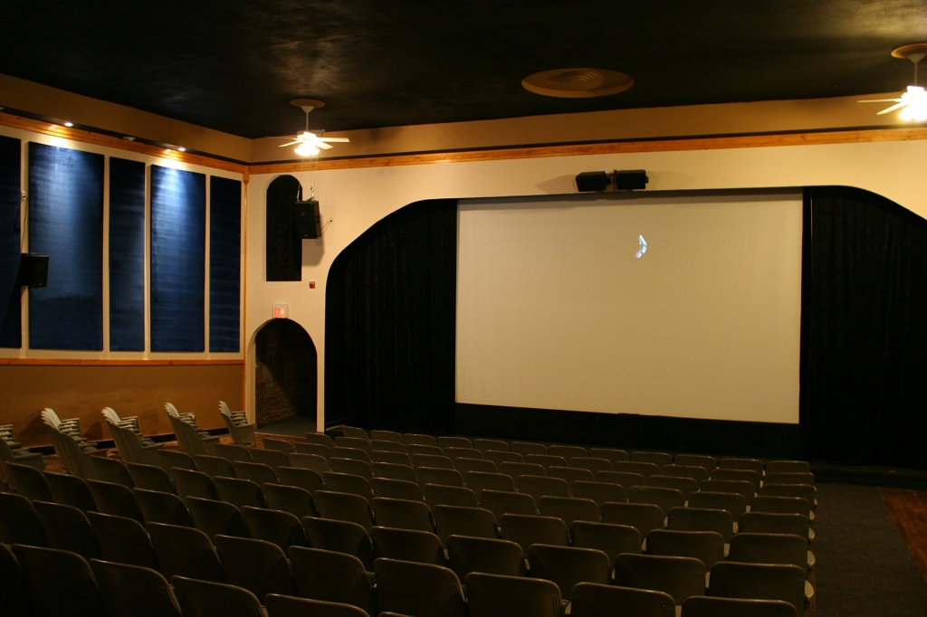 Inside the historic Village Family Theater. Minnesota Prairie Roots file photo 2016.