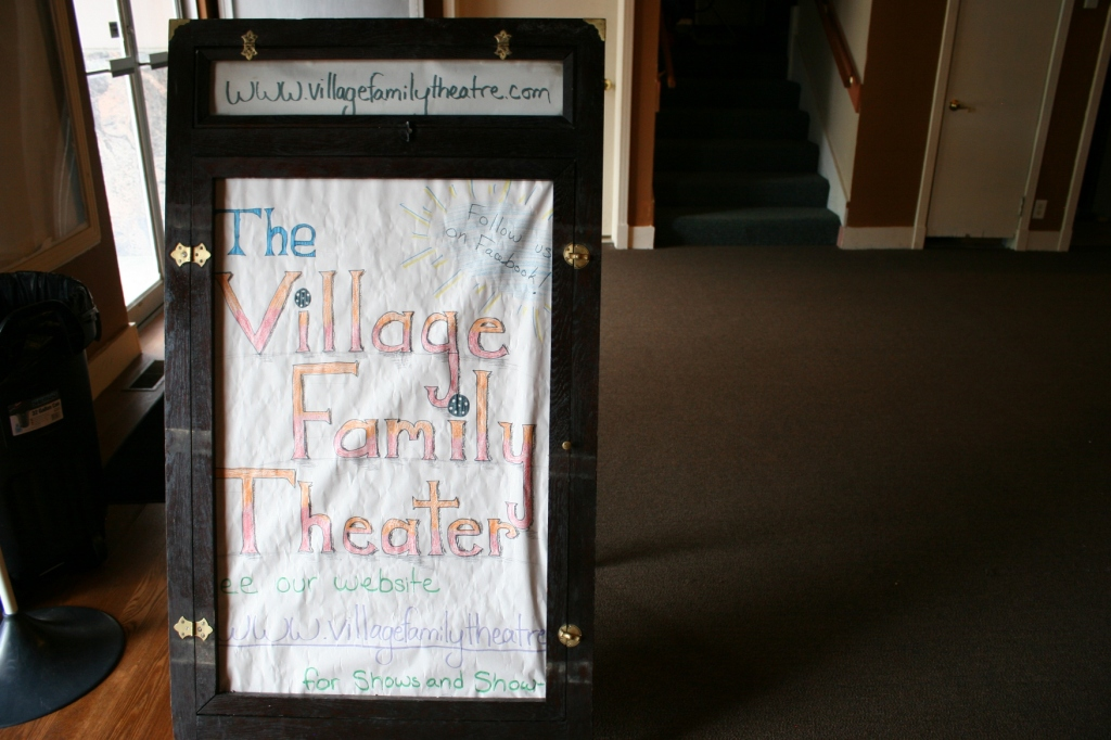 I did a quick tour of the theater in August 2015. This sign sat in the lobby. Minnesota Prairie Roots file photo 2015.