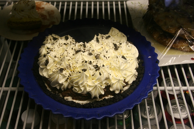 The homemade pies, like this Oreo cream, were mighty tempting.