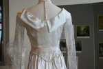 Bridal exhibit, 42 back ofdress