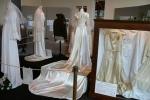 Bridal exhibit, 44 dress with longtrain