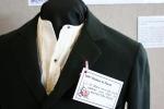 Bridal exhibit, 5 wool cutaway coat1897