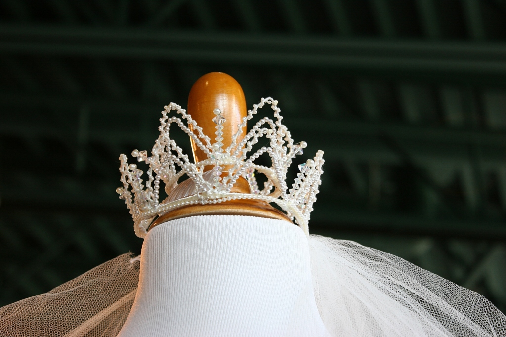 A crown headpiece, probably from the 1950s (I don't recall).