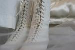 Bridal exhibit, 9 lace-upboots