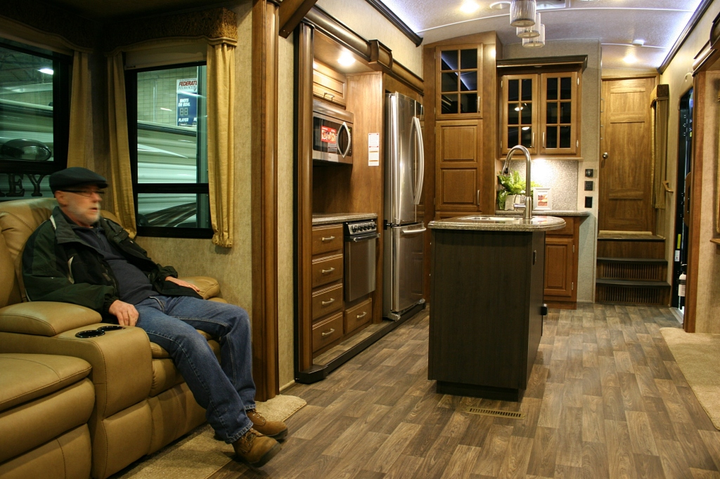 If he could have, Randy would have kicked back with a beer, watched TV and fallen asleep inside this comfy motorhome.