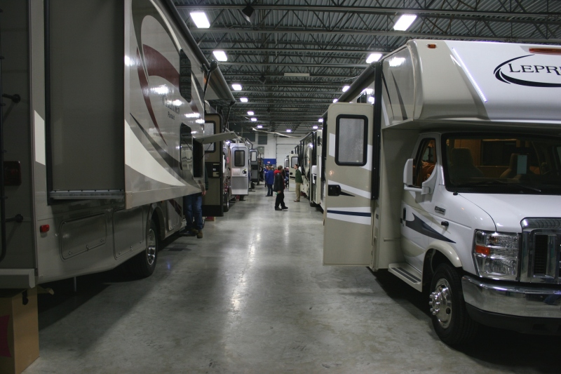 If you were in the market for a camper, this was the place to be. So many to tour...