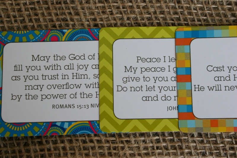 I purchased Scripture cards from christianbook.com to enclose in the greeting cards.