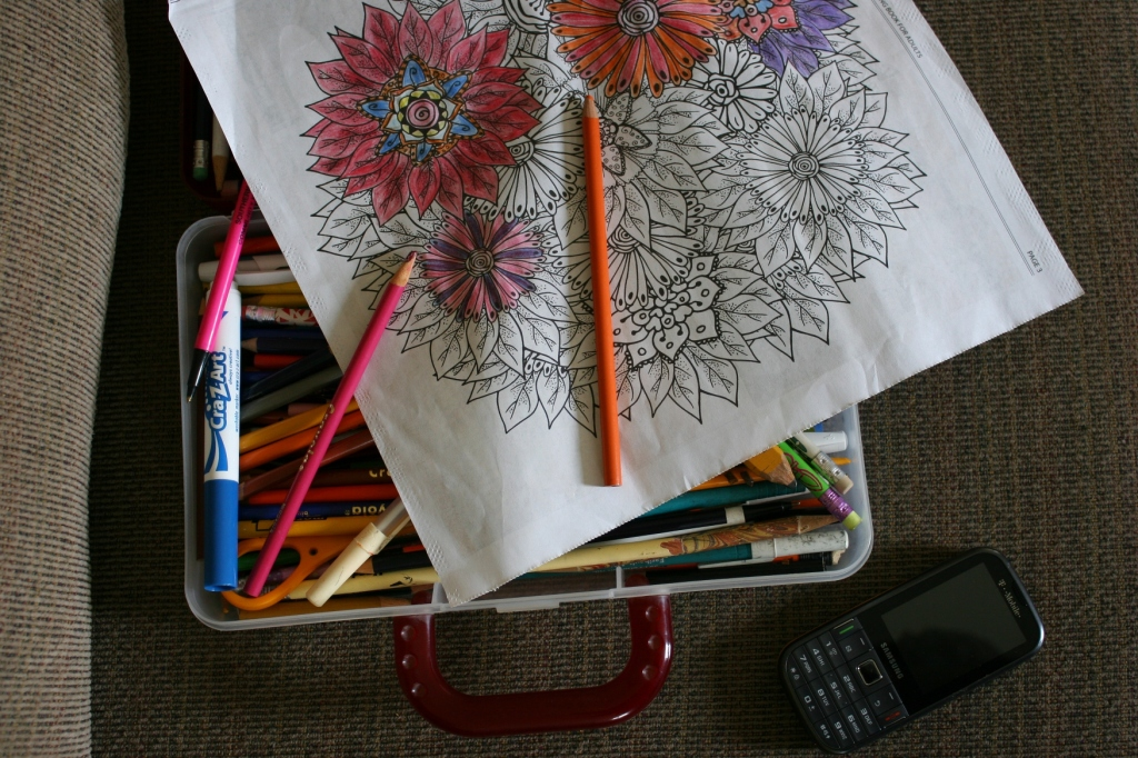 Coloring book, 24 pencils and page