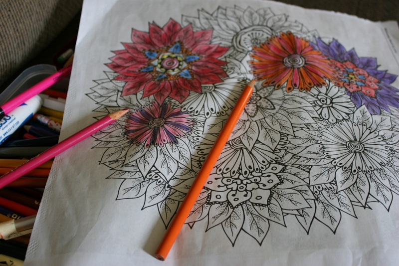 Coloring book, 26 close-up