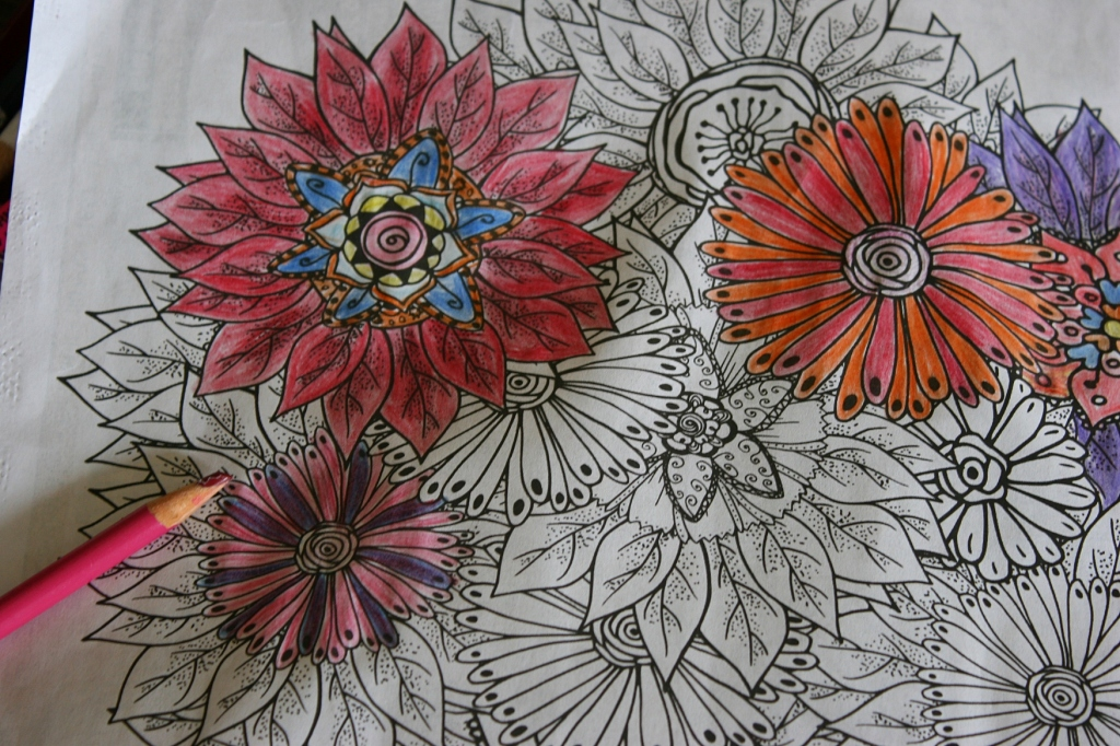 Coloring book, 28 floral close-up