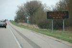 Don't text and drive sign along I35 between Medford & Faribault,122