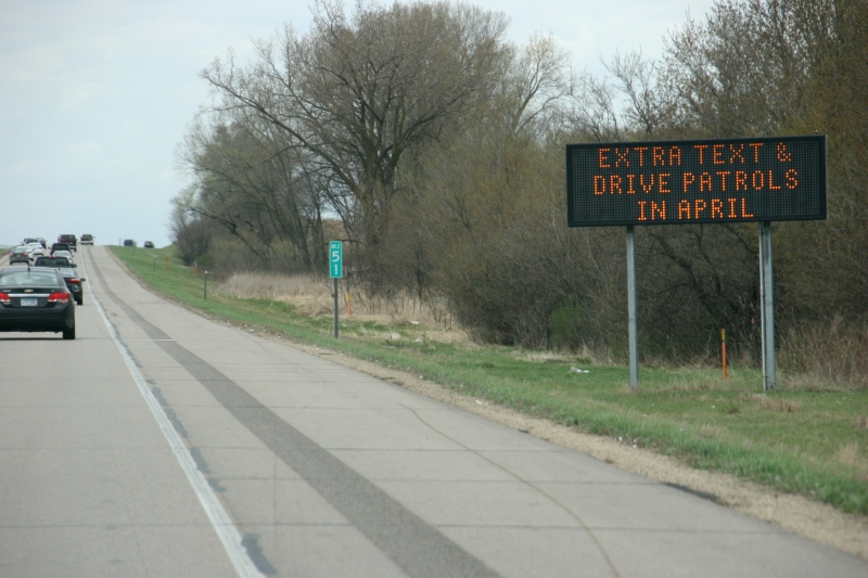 Photographed along Interstate 35 between Medford and Faribault, northbound lane.