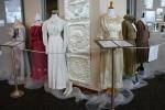 Exhibit, wedding dresses, 12 from 1910s &20s