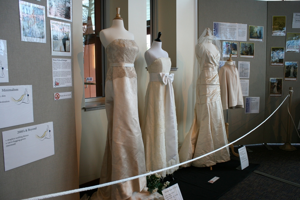 These three dresses were designed by Scott Nylund, a 1995 graduate of Owatonna High School. He once worked for music superstar Beyonce'.