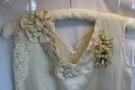 Exhibit, wedding dresses, 46 Depression era dressclose-up