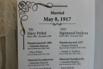 Exhibit, wedding dresses, 47genealogy