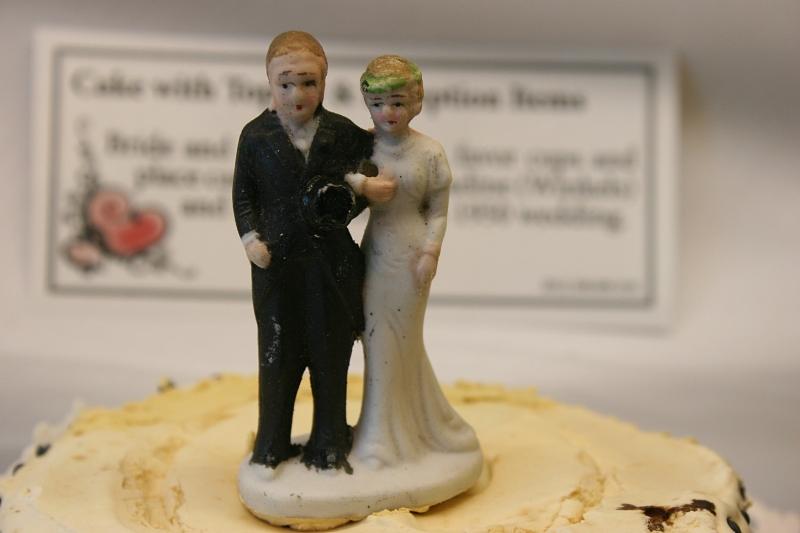 Char and Stuart Ost's 1959 wedding cake topper.
