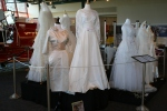Exhibit, wedding dresses, 67 group of 1950s weddingdresses
