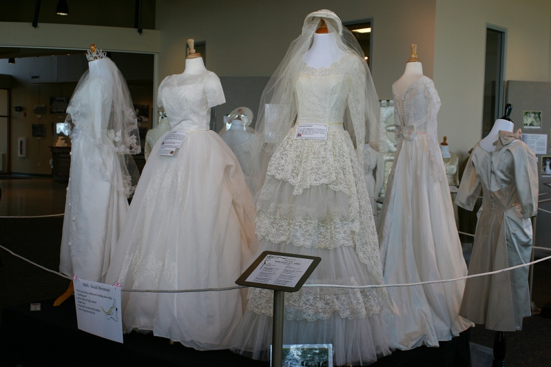 Wedding dresses from the 1960s.